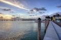 Картинка пейзаж, озеро, пристань, лодки