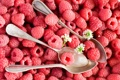 Картинка лето, ягоды, малина, ложки, Anna Verdina