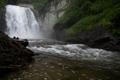 Картинка растительность, вода, скала, водопад
