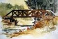 Картинка мост, река, картина
