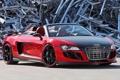 Картинка красный, фон, Audi, тюнинг, Ауди, суперкар, Spyder