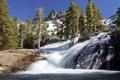 Картинка деревья, горы, водопад