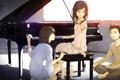 Картинка дети, мальчик, рояль, фортепиано, Девочки, разговор, ребята
