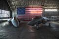 Картинка ангар, истребители, F-22 Raptor, F-35A