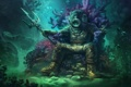 Картинка fantasy, underwater, ocean, background, men, sitting, helmet