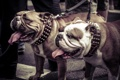 Картинка собаки, прогулка, бульдоги