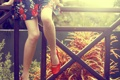Картинка девушка, поза, ноги, обувь