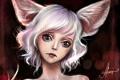 Картинка животное, печаль, арт, девочка, уши
