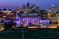 Картинка ночь, огни, дома, Миссури, США, Канзас-Сити