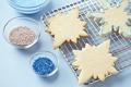 Картинка форма, присыпка, снежинки, тесто, печенье, выпечка, праздники