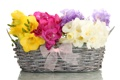 Картинка цветы, корзина, букет, бант