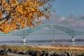 Картинка осень, фото, города, мосты, скамейки, лавочки, осенние обои