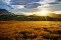 Картинка горы, восход, Новая Зеландия, луг, New Zealand