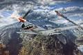 Картинка самолет, холмы, зубы, aviation, авиа, MMO, Wargaming.net