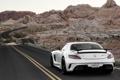 Картинка Mercedes-Benz, Дорога, Скалы, Белый, Пустыня, AMG, SLS