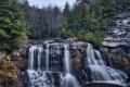 Картинка лес, скалы, водопад, Западная Вирджиния, West Virginia, каскад Блэкуотер, Blackwater Falls