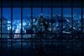 Картинка полоски, city, город, панорама, ночной, panorama, эцио