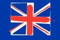Картинка великобритания, линии, краски, обои, флаг