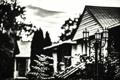 Картинка дом, размытие, фонарь