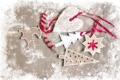Картинка олень, ёлка, картон, сердечко, снежинка, поделки