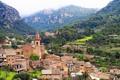 Картинка горы, здания, дома, панорама, Испания, Spain, Balearic Islands