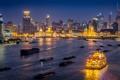 Картинка Шанхай, лодки, Bund Center, K11, зеркало, Tomorrow Square, Китай