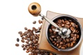 Картинка кофе, зёрна, кофемолка