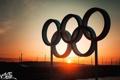 Картинка закат, кольца, олимпиада, набережная, Владимир Смит, Vladimir Smith, Калуга