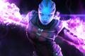 Картинка арт, Mass Effect, Азари, биотик, Asari Vanguard