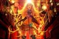Картинка девушка, свет, аниме, арт, микрофон, vocaloid, lily