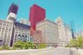 Картинка небо, здания, дома, чикаго, центр города, иллинойс