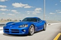 Картинка синий, разметка, ограждение, Dodge, Viper, додж, вайпер