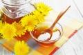 Картинка цветы, мед, одуванчики, салфетка