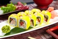 Картинка рис, суши, роллы, васаби, начинка, японская кухня