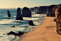 Картинка волны, пляж, берег, Виктория, Австралия, солнечный, Двенадцать Апостолов