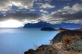 Картинка закат, камни, отдыхающие, Крым, парашют, море, пляж