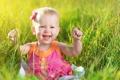 Картинка трава, радость, ребёнок
