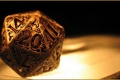 Картинка gold, dice, decorated, 1d20