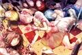 Картинка цветок, улыбка, девушки, роза, аниме, лепестки, арт