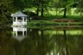 Картинка беседка, пейзаж, парк, озеро