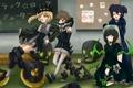 Картинка девочки, череп, арт, школа, black rock shooter, веселье, takanashi yomi