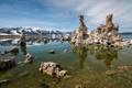 Картинка озеро, камни, пустыня, Природа