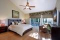 Картинка штора, кровать, кресло, спальня, люстра, стиль