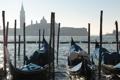 Картинка утро, канал, венеция, гондолы