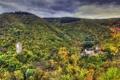 Картинка осень, лес, горы, замок, Германия, Treis-Karden, Wildburg
