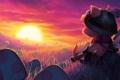 Картинка солнце, закат, настроение, грибы, League of Legends, Teemo, Swift Scout