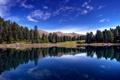 Картинка море, лес, небо, вода, горы, озеро
