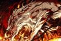 Картинка огонь, животное, демон, арт, клыки, g yuusuke, kajiri kamui kagura