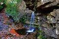 Картинка ручей, камни, скалы, водопад