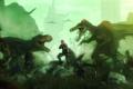 Картинка город, солдаты, fan art, dinosaurs, t-rex, Dino Crisis